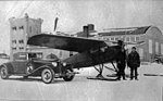 Mono-Van M-2 and Cord L-29 Automobile at Edmonton Airport, Lute Vieweger and Mark Abbot in front (27017711030).jpg