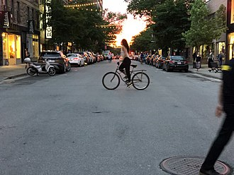 Saint Laurent Boulevard - Saint Laurent Boulevard at sunset on summer solstice.