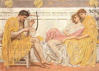 Bacchylides - A Musician by Albert Joseph Moore (1841–1893)