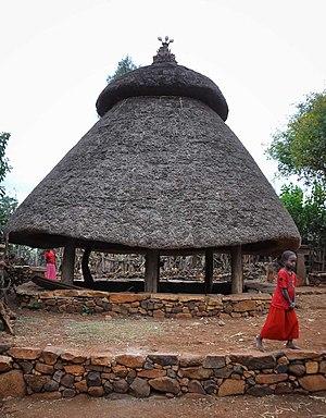 Konso special woreda - Men and Boys Sleeping Hut, Konso Ethiopia