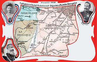 Neutral Moresnet - Image: Moresnet Karte