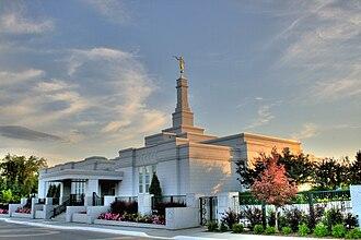 Religion in Edmonton - Image: Mormon Temple Edmonton Alberta Canada 01