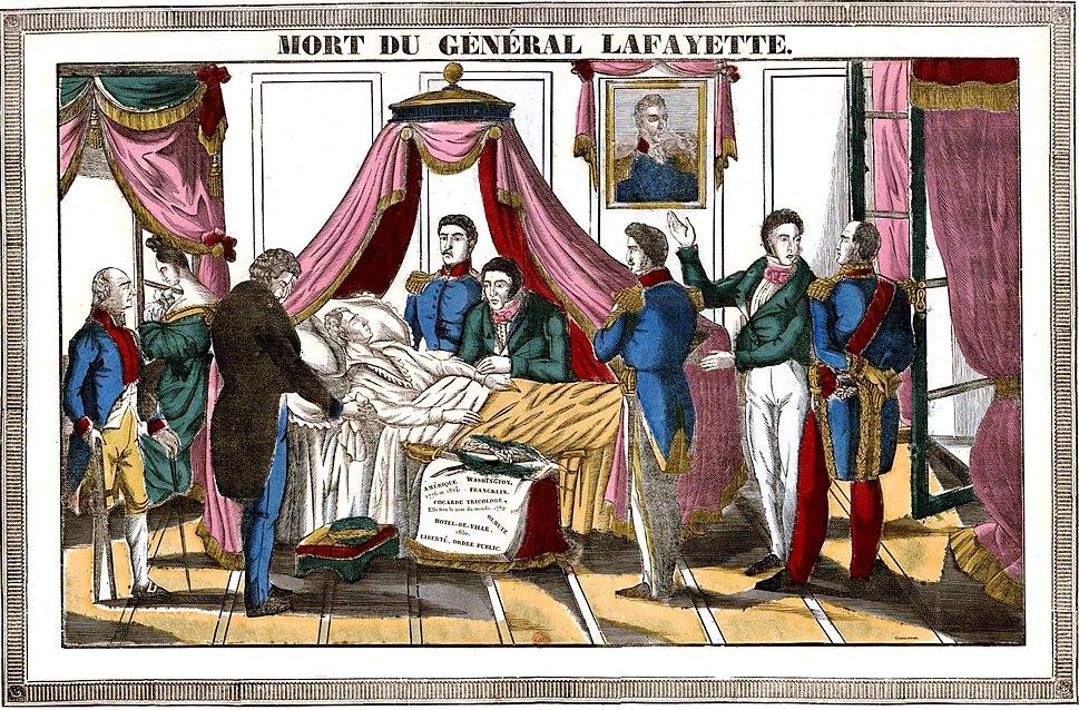 Mort du général Lafayette