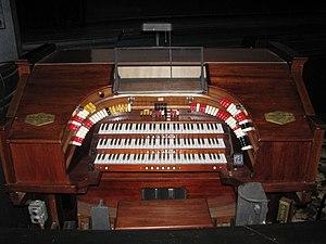 Robert Morton Organ Company - Console of Robert Morton Organ at the Jefferson Theatre