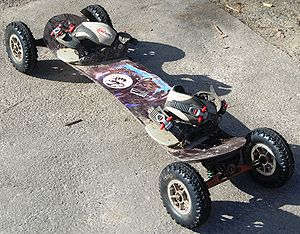 Mountainboarding - MBS Pro 100 Mountainboard with noSno soft bindings