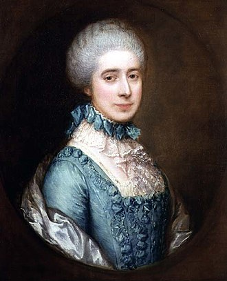 Crewe Hall - Frances Crewe, by Thomas Gainsborough
