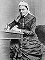Mrs Wardroper at her desk. Wellcome L0000024.jpg