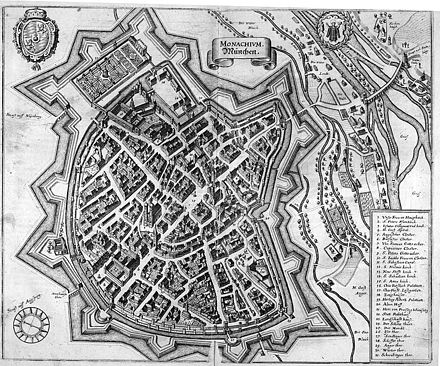 Plan of Munich in 1642
