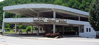 Welch, West Virginia - Municipal parking building in Welch