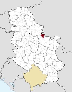 Veliko Gradište - Image: Municipalities of Serbia Veliko Gradište