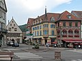 Munster, straatzicht Place du Marché-rue Saint-Gregoire-Grand Rue met stadhuis PA00085551 foto4 2013-07-23 17.00.jpg