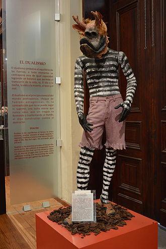 """Cora people - Manniquen of a masked Cora """"Judas"""" dancer at the Museo Nacional de la Máscara."""