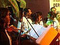 Musicians ready for the Mando stage. Konkani music. Goa. 3.jpg