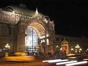 Nürnberg Hauptbahnhof bei Nacht