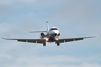 Cessna Citation Latitude - front view on approach