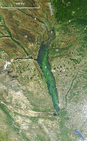 Barotse Floodplain - Image: NASA Barotse Floodplain compressed
