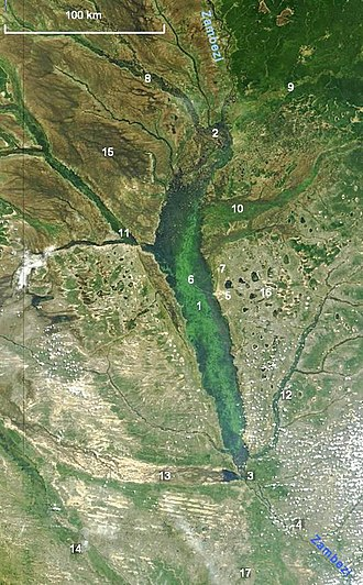 Barotse Floodplain - Image: NASA Barotse Floodplain compressed