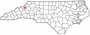 Crossnore, North Carolina - Image: NC Map doton Crossnore