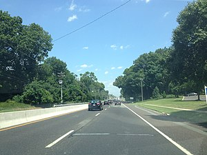 New Jersey Route 38 - Eastbound Route 38 past County Route 616/County Route 627 in Cherry Hill Township.
