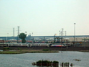 West Hudson, New Jersey - The Kearny Meadows are crisscrossed with rail infrastructure and is home to New Jersey Transit's Meadows Maintenance Complex
