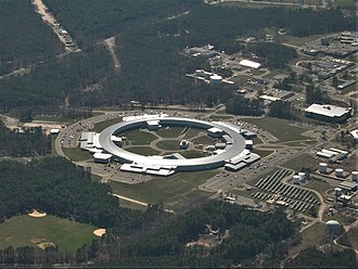 National Synchrotron Light Source II - An aerial view of the National Synchrotron Light Source II (NSLS-II) at Brookhaven National Laboratory