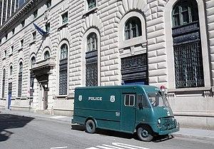 New York City Police Museum - Patrol Wagon on display outside