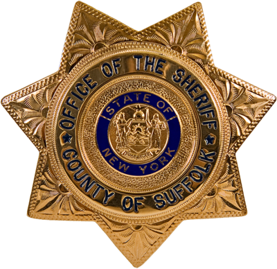 United States sheriff badges are typically star-shaped, as opposed to the more shield-like badges of other law enforcement such as police officers. NY - Suffolk County Office Of The Sheriff Badge.png