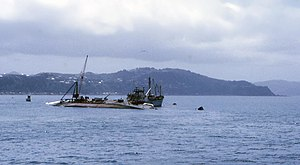 TEV Wahine - Salvage operations under way two weeks after the disaster