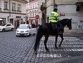 Na Perštýně, Jilská, městská policie na koních.jpg