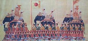 Japanese migration to Thailand - Yamada Nagamasa's army in Siam. 17th-century painting