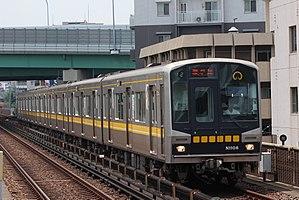 Nagoya Municipal Subway N1000 series - Nagoya Municipal Subway N1000 series set N1106 in July 2017