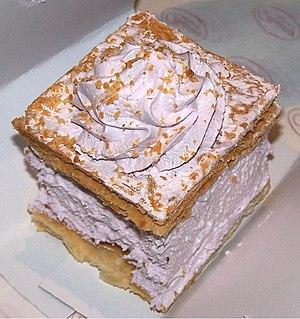 Napoleonka - Napoleonka with egg white cream