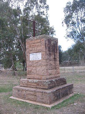 Charles Sturt - Sturt memorial at Narrandera, New South Wales on the Murrumbidgee River.