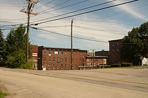 Nashua Manufacturing Company Historic District - Image: Nashua Millyard with Picker building