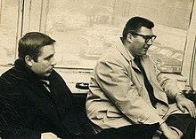 Dick Sheridan (born 1936) and Nat Pierce in New York City, 1961