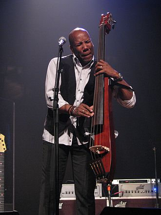 Nathan East - Nathan East playing a Yamaha SLB200 Silent Upright Bass with Fourplay at Knight Theater, Charlotte, NC, on June 8, 2014