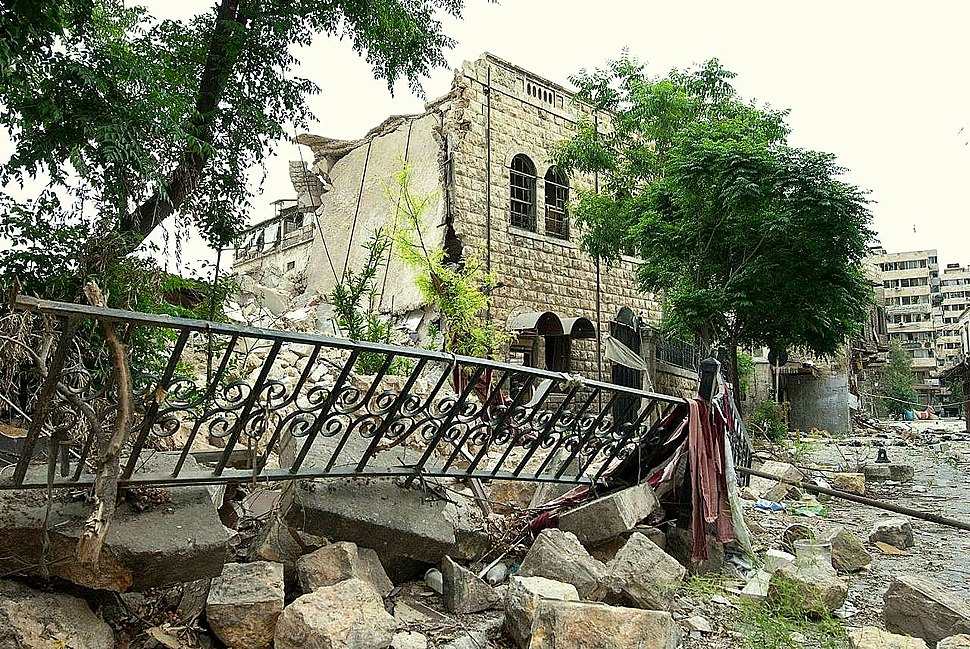 National Evangelical Church of Aleppo (destructed), 12 June 2013