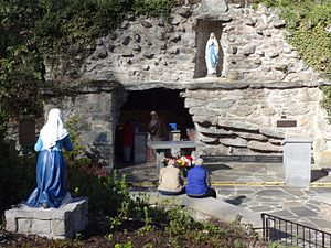 Mount St. Mary's University - Grotto cave at National Shrine Grotto of Our Lady of Lourdes, April 2016.