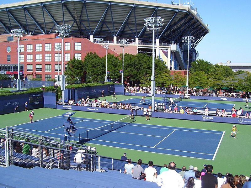 File:National Tennis Center outside courts and stadium.jpg