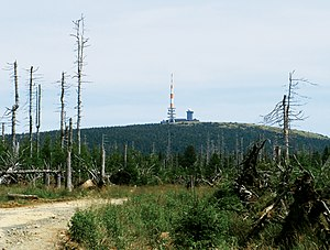Goethe Way - View from Goethe Way of the Brocken