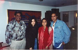 Nazia Hassan - Nazia with Biddu in Mumbai.