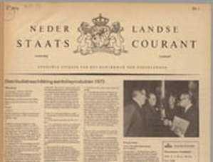 Staatscourant - Staatscourant edition from 1974