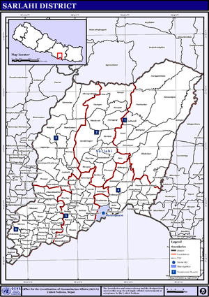 Sarlahi District - Image: Nepal Sarlahi Districtmap