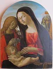 Madonna and Child with Saint John the Baptist and Saint Andrew