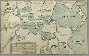 Kagerplassen - Historical map of the lakes in 1617