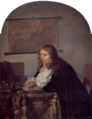 Netscher, Caspar - The Man Writing a Letter - 17th c.png