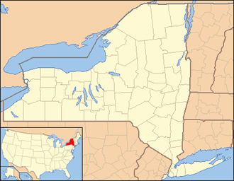 Delmar, New York - Image: New York Locator Map with US
