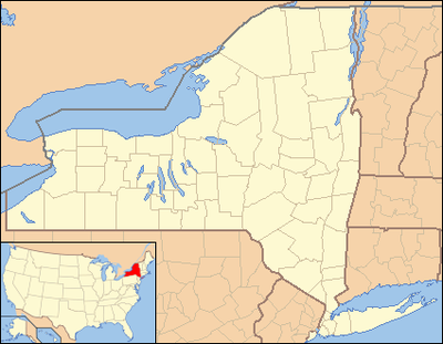 Location map USA New York