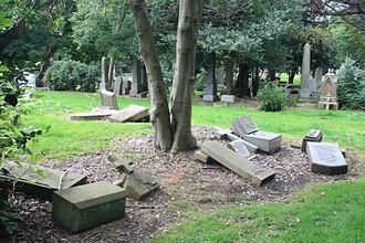 Newington Cemetery - Newington Cemetery, Edinburgh, typical condition