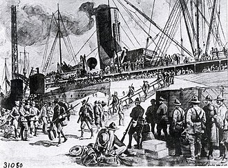 Walter Jack Duncan - Image: Newly Arrived Soldiers Debarking at Brest by Walter J. Duncan